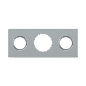 "Strike Plate For 7"" Flush Bolt - Brushed Chrome"