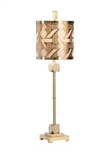 Hutton Slim Lamp - Brass