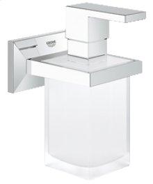 Chrome Holder with soap dispenser