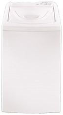 White 2.4 cu. ft. I.E.C.* equivalent Compact Washer