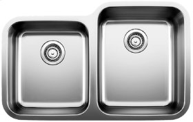 Blanco Stellar® 1-3/4 Reverse Bowl - Stainless steel refined brushed finish
