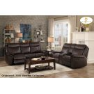 Double Reclining Sofa with Center Drop-Down Cup Holders, Receptacles, Hidden Drawer and USB Ports Product Image