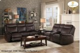 Double Reclining Sofa with Center Drop-Down Cup holders, Receptacles and Hidden Drawer Product Image