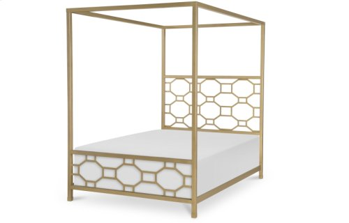 Chelsea by Rachael Ray Metal Canopy Bed Full, 4/6