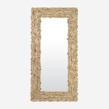 Miranda Waterhyacinth Rectangle Mirror - Natural Fiber