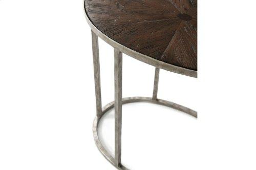 Sunburst Cantilever Accent Table, Dark Echo Oak