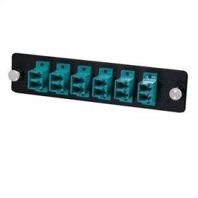 Q-Series™ 12-Strand, LC Duplex, PB Insert, MM, Aqua LC Adapter Panel