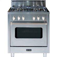 "Stainless Steel 30"" Single Oven Gas Range"
