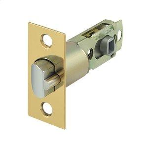 Square Latch Adj. Entry - PVD Polished Brass
