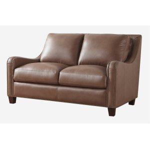 Leather Italia Usa 6384 Napa Loveseat 177136 Peanut Brown