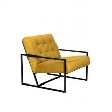 Chair 71x81x70 cm GENEVE velvet ocher yellow+black