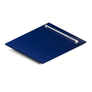 """Zline Kitchen24"""" Dishwasher Panel in Blue Gloss with Traditional Handle (DP-BG-24)"""