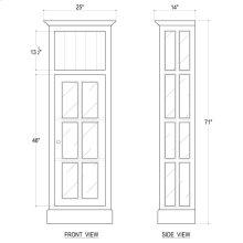 Cape Cod Bookcase w/ Doors