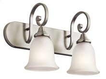 Monroe 2 Light Vanity Light Brushed Nickel