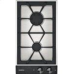 "Gaggenau200 series Vario 200 series gas cooktop Black control panel Width 12"" Natural gas."