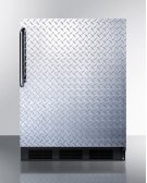Built-in Undercounter ADA Compliant Refrigerator-freezer for General Purpose Use, Cycle Defrost W/diamond Plate Door, Tb Handle, and Black Cabinet Product Image