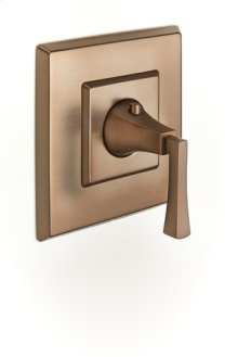 Leyden Thermostatic Valve Trim with Lever Handle - Bronze