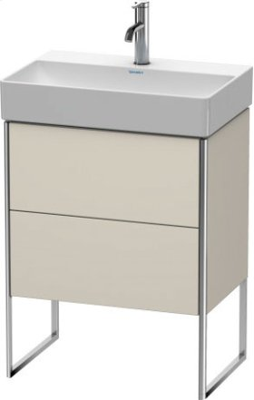 Vanity Unit Floorstanding Compact, Taupe Matt (decor)