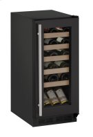 """1000 Series 15"""" Wine Captain® Model With Black Frame Finish and Field Reversible Door Swing (115 Volts / 60 Hz) Product Image"""
