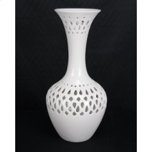 Ceramic White Vase 17H 2-Pack