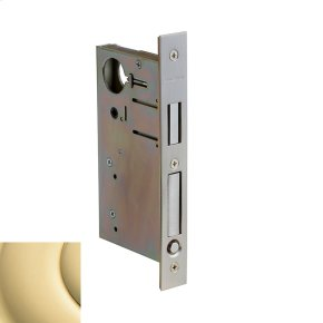 Polished Brass 8632 Pocket Door Lock with Pull
