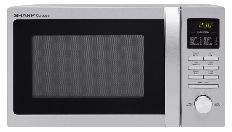 Sharp Carousel Countertop Microwave Oven 0 9 Cu Ft 900w Stainless Steel
