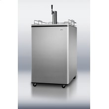 Portable beer dispenser with platinum sides, stainless steel door and stainless steel top