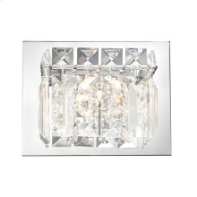 Crown Vanity - 1 Light Clear Crystal glass / Chrome finish