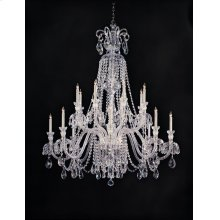 Traditional Crystal 16 Light Clear Crystal Chandelier