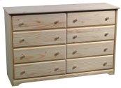 Pine 8 Drawer Dresser