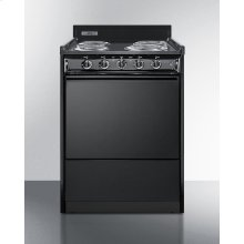 """24"""" Wide Electric Range In Black With Lower Storage Compartment"""