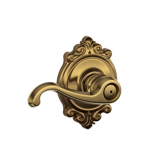 Callington Lever with Brookshire trim Bed & Bath Lock - Antique Brass