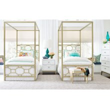 Metal Canopy Bed Twin, 3/3