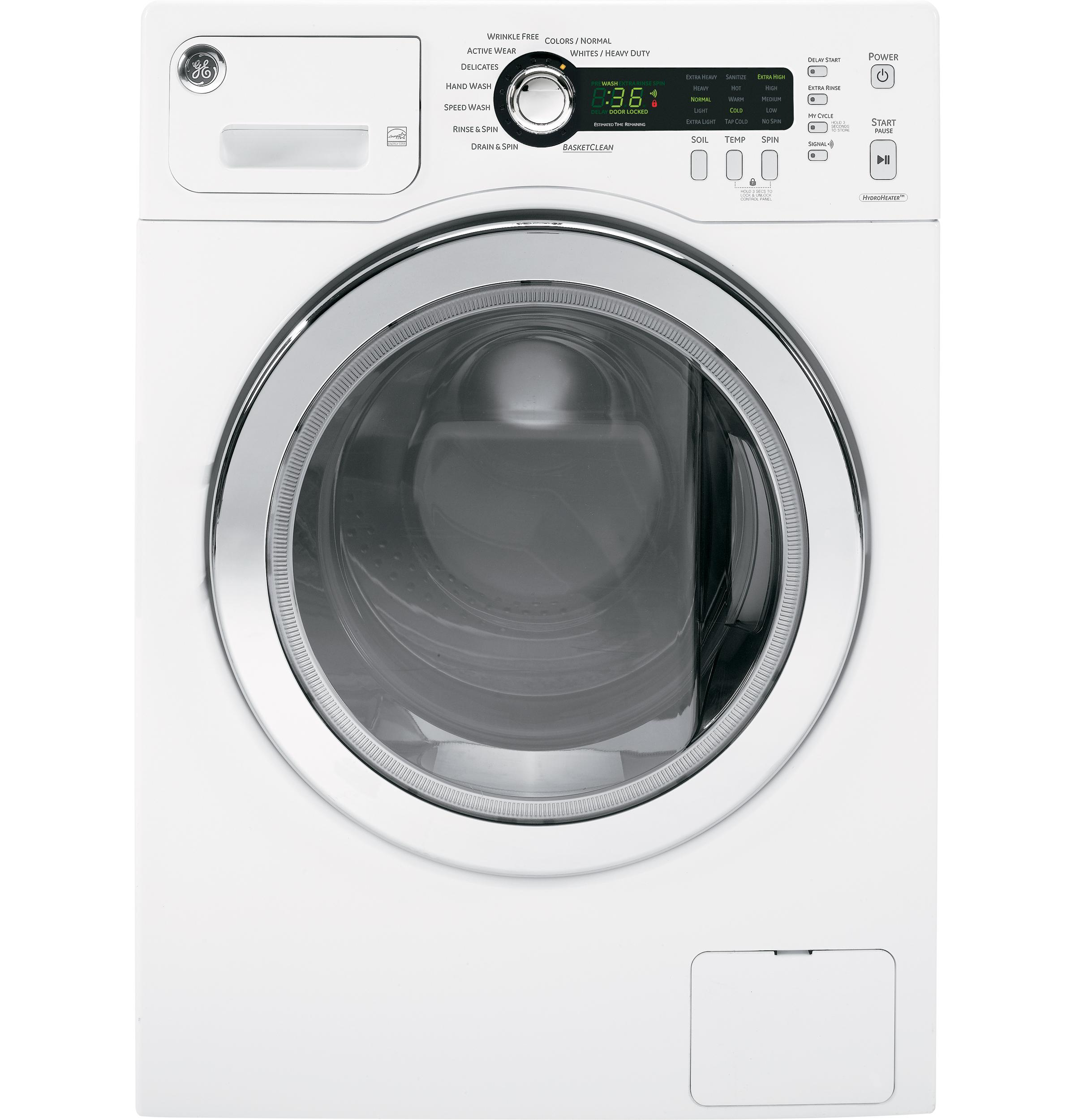 Wcvh4800kww Ge Ge 174 2 2 Cu Ft Front Load Washer White