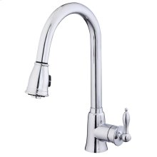 Chrome Prince Single Handle Pull-Down Kitchen Faucet