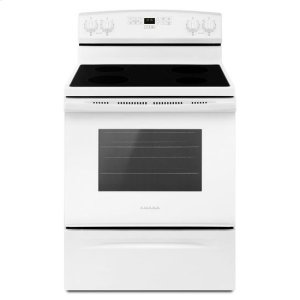 30-inch Electric Range with Extra-Large Oven Window - white - WHITE