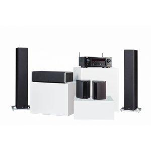 Definitive TechnologyBP9020 Towers, CS9040 Center Channel, SR9040 Surround Speakers and Denon AVR-X2400H AV Receiver