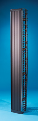 """MM6 Vertical Cable Management Cage with door, 10"""" x 13"""" x 7'"""