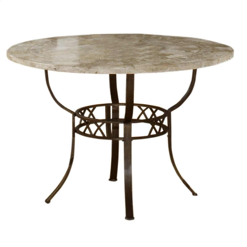 Brookside Round Dining Table Ctn B Fossil Stone Top Only