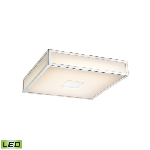 Hampstead Integrated LED Flush Mount Ceiling Lamp in Chrome