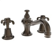 Weathered-Brass-Living Widespread Lavatory Faucet