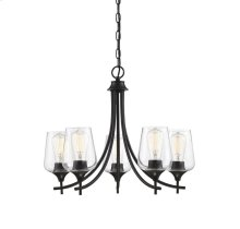 Octave 5 Light Black Chandelier