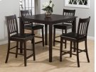 5 Pack - Table and 4 Slat Back Stools Product Image