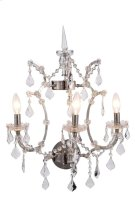 1138 Elena Collection Wall Sconce D:17in H:22in Lt:3 Polished Nickel Finish Royal Cut Crystal (Clear) Product Image