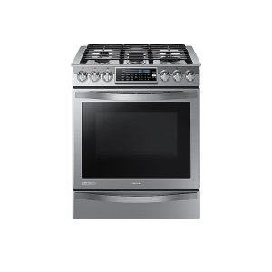 Samsung Appliances5.8 cu. ft. Slide-in Gas Chef Collection Range with True Convection