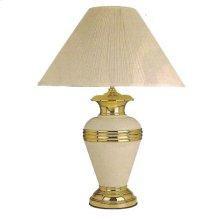 BURGUNDY METAL TABLE LAMP