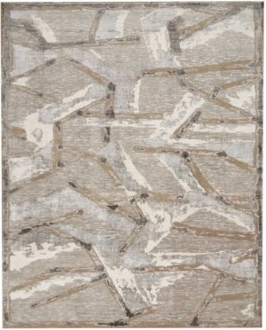 Christopher Guy Wool Collection Cgw16 Silver Round Rug 8' X 8'