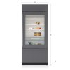 """Sub-Zero 36"""" Classic Over-And-Under Refrigerator/freezer With Glass Door - Panel Ready"""