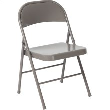 HERCULES Series Double Braced Gray Metal Folding Chair