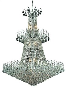 8031 Victoria Collection Large Hanging Fixture Chrome Finish